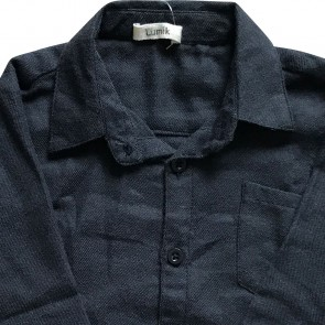 lumik-Lumik Black Plain Longsleeve Shirt-