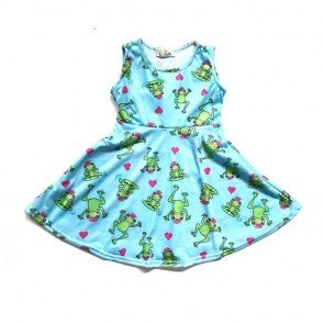 lumik-Green Froggy Play Dress-
