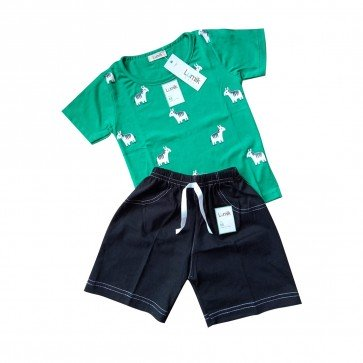 lumik-Lumik Green Horse Baju Set-