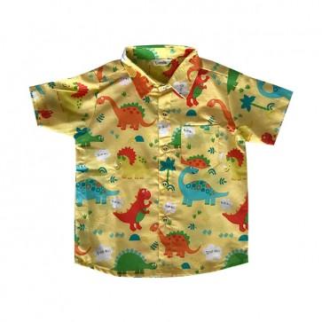 lumik-Yellow Dinosaurus Baby Shirt-