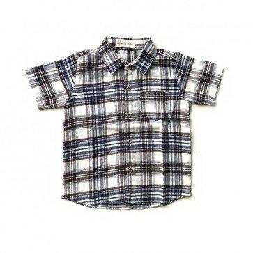 lumik-Blue Square Baby Shirt-