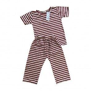 lumik-Lumik Maroon Stripe Pajamas-