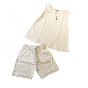 lumik-White Baju Set-