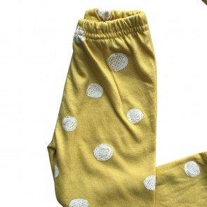 lumik-Lumik Yellow Polka Legging Set Headband-