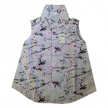 lumik-Lumik Purple Flowery Shirt Girl-