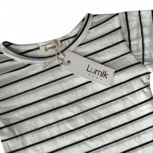 lumik-Lumik Big White Stripes Tee-