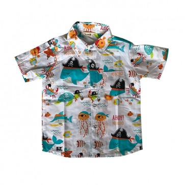 lumik-White Sea Baby Shirt-