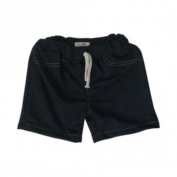 lumik-Lumik Black Plain Short Pants-