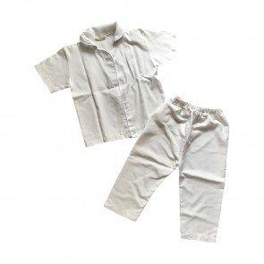 lumik-Lumik Pajamas White Plain-