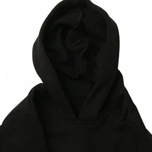 lumik-Lumik Black Plain Sweater Hoodie-