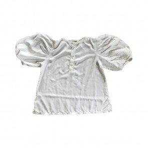 lumik-Lumik White Plain Boba Blouse-