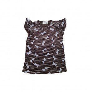 lumik-Lumik Brown Ribbon Tee Simple Baby-