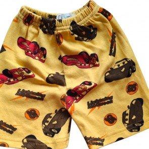 lumik-Lumik Yellow Car Short-