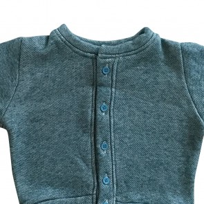 lumik-Lumik Green Plain Cardigan-