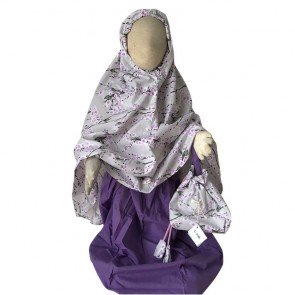 lumik-Purple Flowery Mukena-
