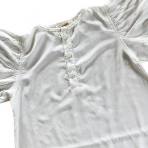 lumik-Lumik White Plain Boba Blouse-