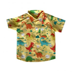 lumik-Yellow Dinosaurus Baby Shirt-