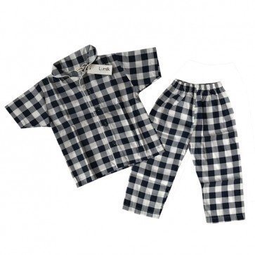 lumik-Navy Square Pajama-