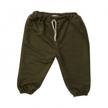 lumik-Green Plain Jogger-
