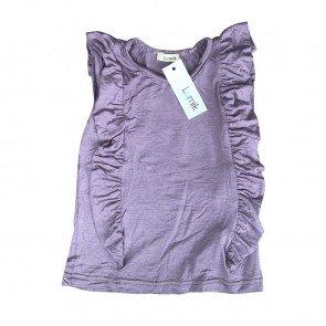 lumik-Lumik Purple Plain Tee Ruffle-