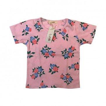 lumik-Pink Flower Tee Special Store-