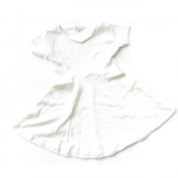 lumik-White Simply Dress-