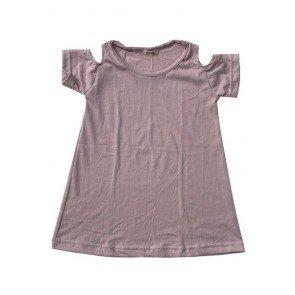 lumik-Dusty Pink Batwing Dress-