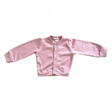 lumik-Lumik Dusty Pink Plain Cardigan-