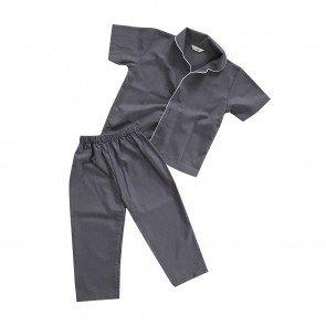 lumik-Pajamas Dark Grey Plain-