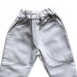 lumik-Lumik Cream Plain Chino Pants-