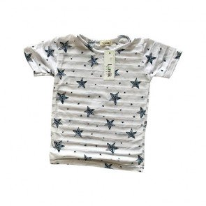 lumik-White Star Tee-