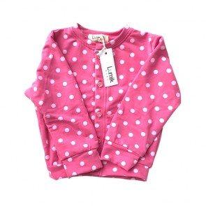 lumik-Pink Polka Cardigan-