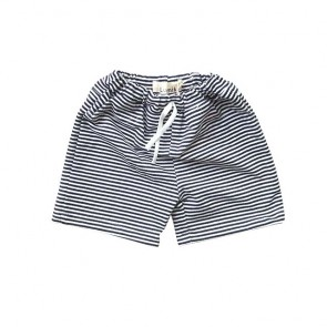 lumik-Black White Stripes Short-