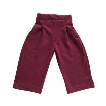 lumik-Lumik Maroon Plain Kulot Pants-