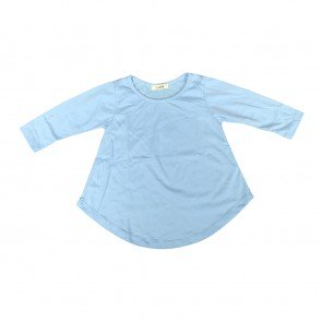 lumik-Lumik Blue Plain Girly Long Sleeve-