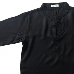 lumik-Lumik Black Plain Koko Long Sleeve-