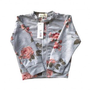 lumik-Flowery Grey Cardigan-