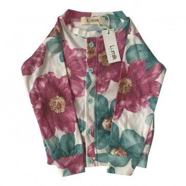 lumik-Green & Pink Floral Cardigan-