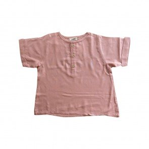 lumik-Lumik Dusty Pink Plain Lengan Stick Balik-