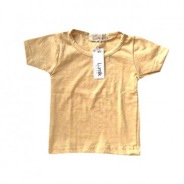 lumik-Light Yellow Tee-