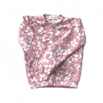 lumik-Pink Floral Cardigan-