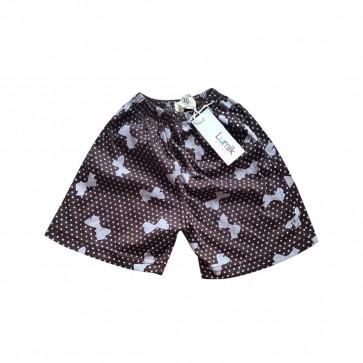 lumik-Lumik Brown Ribbon Short-