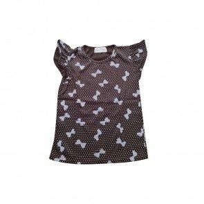 lumik-Lumik Brown Ribbon Tee Simple Baby-