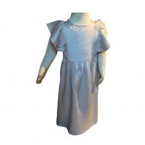 lumik-Lumik Grey Plain Ruffle Long Dress-