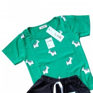 lumik-Lumik Green Horse Baju Set-