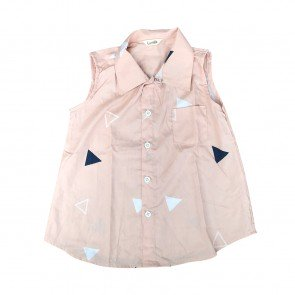 lumik-Lumik Brown Pyramid Shirt Girl-