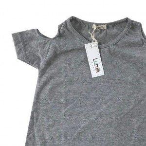 lumik-Grey Batwing Dress-