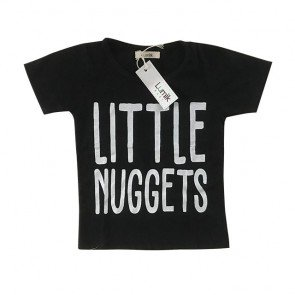 lumik-Little Nuggets Black Tee Special Store-