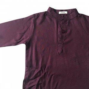 lumik-Lumik Maroon Plain Koko Long Sleeve-