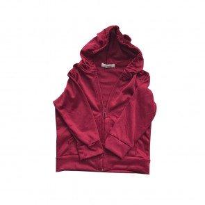 lumik-Lumik Red Plain Hoodie-